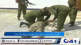 جھنگ امام بارگاہ شاہ نجف کے مقام پر پولیس کی جانب سے موک ایکسرئز