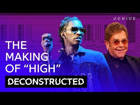 """The Making Of Young Thug & Elton John's """"High"""" With Stelios 