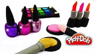 Пластилин Play Doh Лепим Набор Косметики из Пластилина Плей До своими руками. Поделки для детей