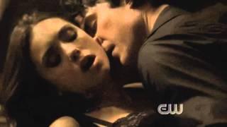 Vampire diaries season 2 ep 1 Damon & Katherine & Elena