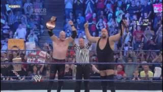 Kane & Big Show  vs  Justin Gabriel & Heath Slater (The Corre)(WWE Tag Team Championship)22-4-2011