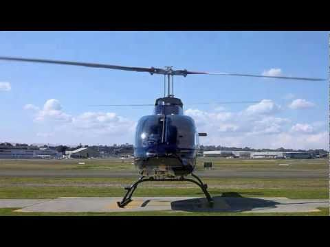 Bell 206 JetRanger start up and take off
