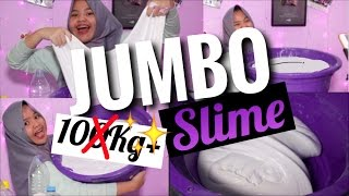 BIKIN 10KG SLIME?! SLIME TERBERAT??   JUMBO SLIME TUTORIAL BHS INDONESIA