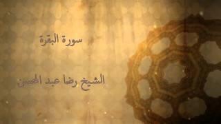 القارئ الشيخ رضا عبد المحسن    سورة البقرة