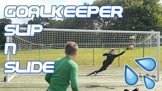 Lewis McGonigal - Unreal Reactions - Goalkeeper Slip N` Slide Challenge W/ Fraz Goalkeeping
