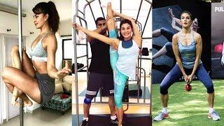 Jacqueline Fernandez AMAZING Flexibility   180 Degree Stretching   Gym Workout Video   Race 3