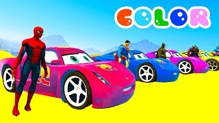 Learn Colors for Kids with 3D Lightning McQueen & Monster Truck - Disney Cars 3 2017 Cartoon
