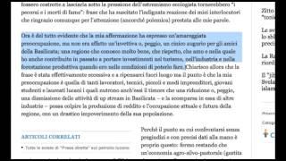 """Il Direttore Eni ai Lucani: """"parole offensive colpiscono anche me"""". Pirro fa """"retromarcia"""""""