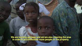 Rain and Flooding:  Haitian People Rush To Build Shelter