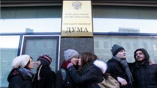 Beijo gay frente ao Parlamento russo