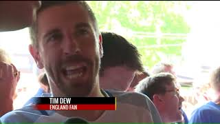 Emotions run high as locals pack tavern for Croatia-England game