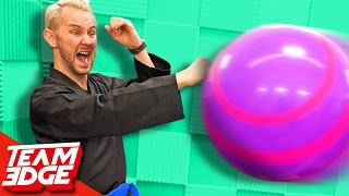 NINJA Dodgeball Challenge!! 🔴