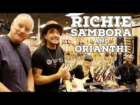 Richie Sambora and Orianthi shops at Norman s Rare Guitars