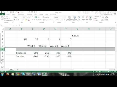 MS Excel 2013 Tutorial FOR BEGINNERS PART 3 - How to use Excel - formulas, charts, tables