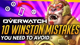 Overwatch | Winston Most Important Hero Currently! - 10 Mistakes To Avoid!