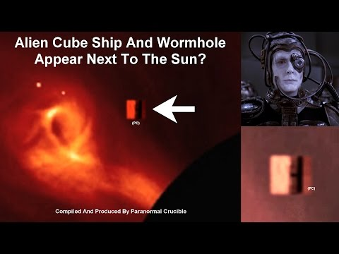 Alien Cube And Wormhole Appear Next To Sun?