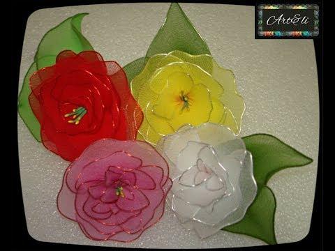 Rosas Feitas com Meia de Seda Como fazer