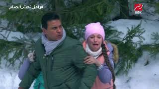 الحلقة 8 - رامز جلال | رعب شديد من حسام البدري فى مواجهة دب رامز تحت الصفر
