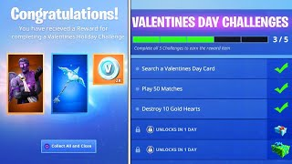 The New VALENTINES DAY REWARDS in Fortnite..