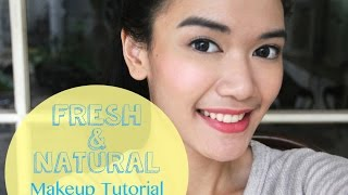 Fresh & Natural Makeup Tutorial [Indonesian Sub] | DXB ♡