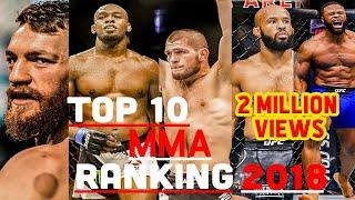 TOP 10 MMA RANKINGS 2018 HD