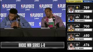 Giannis Antetokounmpo & Eric Bledsoe postgame reaction | Pistons vs Bucks Game 4 | 2019 NBA Playoffs
