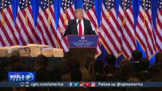 US President-elect holds first news conference since July