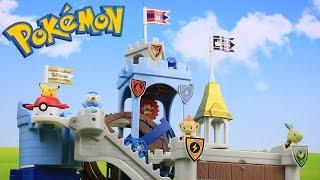 Pokemon Toys Mechanism Castle 5 Packs Unboxing Opening