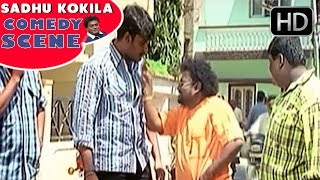 Sadhu Kokila showing Heroines to Darshan   Bullet Prakash   Kannada Comedy Scenes