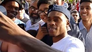 ERROL SPENCE MOBBED BY FANS IN KELL BROOK'S HOMETOWN; GETTING MAD LOVE IN THE UK