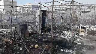 گزارشي ازبه آتش كشيدن بازارچه گلشهركرج760غرفه2شنبه11تير97توسط شهرداري