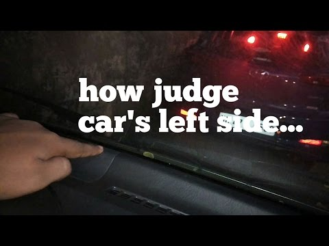 How judge car from left side|lesson 21|learn car driving for beginners in Hindi| by learn to turn