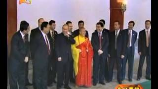 Shaolin  Russian President Putin's visit to the SongShan Shaolin Temple China in 2003