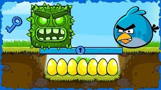 Angry Bird Blue In Red Ball 4 Green Hills Walkthrough #Redball4 #Redball4gameplay