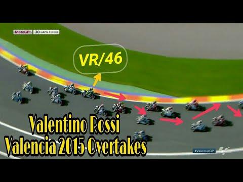 Valentino Rossi All Overtakes In MotoGP 2015 Valencia