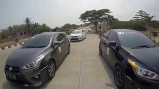 All new Yaris Indonesia goes to Anyer