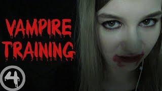 ASMR Vampire Training Roleplay (soft speaking, slurping, biting)