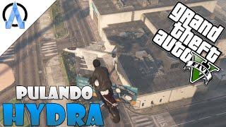 GTA V Online PS4 - Saltando e Caindo no Jato Hydra - Desafios #6 ft. Montalvão