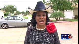 Frederica Wilson laughs that she's now a 'rock star' because of feud with Trump