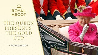 Royal Ascot 2017: The Queen presents the Gold Cup to Big Orange owners