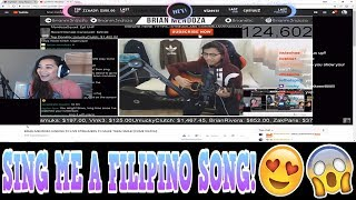 TWITCH & YOUNOW REACTION | I SANG HER A FILIPINO SONG! [MUST WATCH]