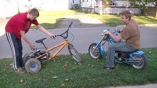 Mini Chopper Vs. Homemade 4hp Trike