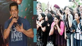 "Female Fans go crazy for Salman Khan at ""Jumme Ki Raat"" song launch from movie KICK."