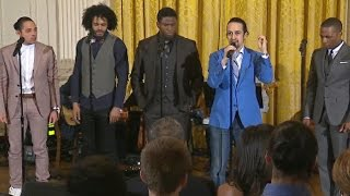 "Hamilton cast performs ""My Shot"" at White House"