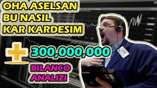 ASELSANDAN +300 MILYON NET KAR ARTIŞI ! ASELSAN BİLANÇO ANALİZİ
