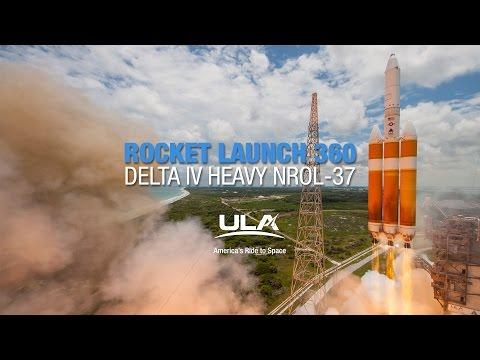 Rocket Launch 360 Delta IV Heavy NROL 37