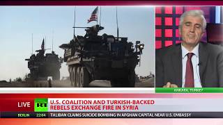 US-led coalition exchanged fire with Turkish-backed rebels in Syria