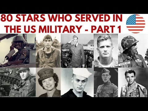 80 Stars who served in the US military Part 1