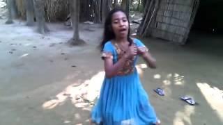 Bangladeshi Little Village Girl's Dance haha