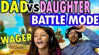 Skylanders Swap Force Dad vs. Daughter Wager Battle Mode: Ring Out & Arena Rumble